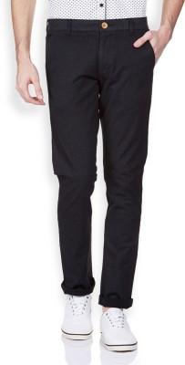Vintage Slim Fit Men's Black Trousers