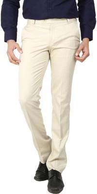 Follow Up Regular Fit Men's Cream Trousers