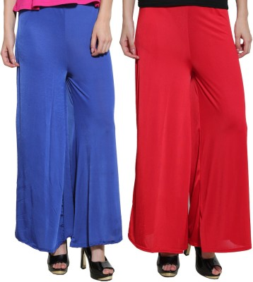 Both11 Regular Fit Women's Blue, Red Trousers