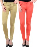 iHeart Skinny Fit Women's Multicolor Tro...