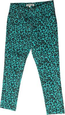 Allen Solly Regular Fit Girl,s Green Trousers