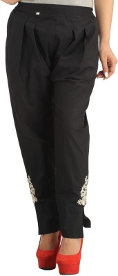AliColours Slim Fit Women's Black Trousers