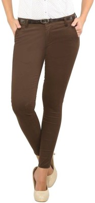 Recap Skinny Fit Women's Brown Trousers