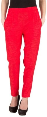 A A Store Regular Fit Women's Red Trousers