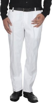 Shaurya-F Regular Fit Men's White Trousers