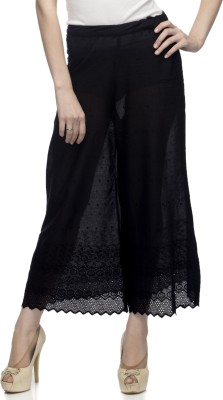 One Femme Regular Fit Women's Black Trousers