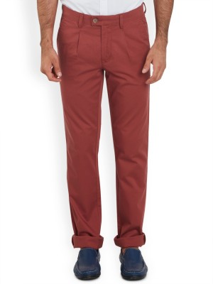 ColorPlus Regular Fit Men's Red Trousers