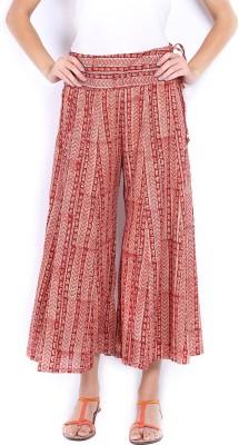 Fabindia Regular Fit Women's Maroon Trousers