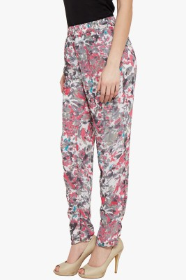 The Vanca Slim Fit Women's Grey Trousers at flipkart