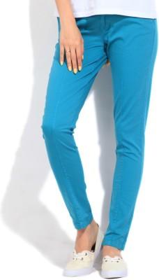 Elle Skinny Fit Women,s Blue Trousers