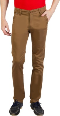 Bloos Jeans Slim Fit Men's Brown, Gold Trousers