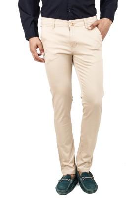 Uber Urban Slim Fit Men's Cream Trousers