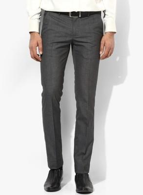 Jack Williams Regular Fit Men's Black, Grey Trousers