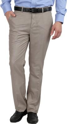 Jhampstead Regular Fit Men's Brown Trousers