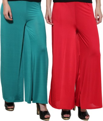 Both11 Regular Fit Women's Green, Red Trousers