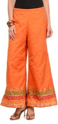 Lavennder Regular Fit Women's Orange Trousers