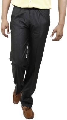 BlueTeazzers Regular Fit Men's Black Trousers