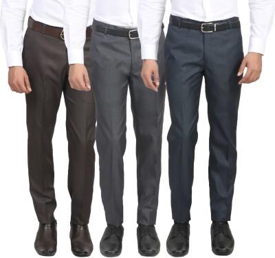 ManQ Slim Fit Men's Multicolor Trousers