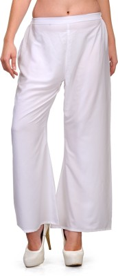Natty India Regular Fit Women's White Trousers