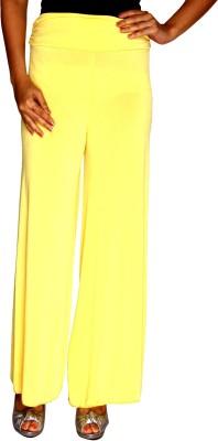 Zadine Regular Fit Women,s Yellow Trousers