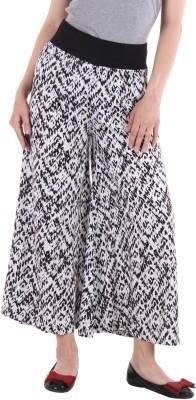 Lady Stark Regular Fit Women's Black, White Trousers