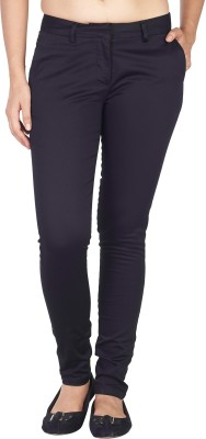 Soie Slim Fit Women's Black Trousers at flipkart