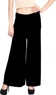 ELVIN Regular Fit Women's Black Trousers