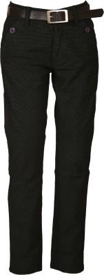 Awack Regular Fit Boys Black Trousers