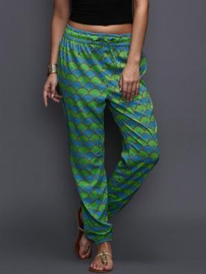 Anouk Regular Fit Women's Green Trousers