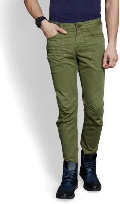 Route 66 Slim Fit Men's Dark Green Trousers