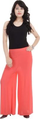SANA FAB Regular Fit Women's Orange Trousers