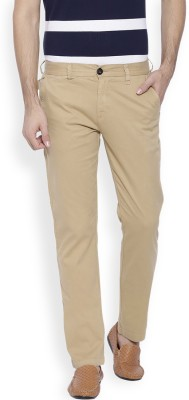 OFFLINE Slim Fit Men,s Beige Trousers