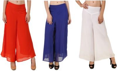 CHIKFAB Regular Fit Women's Blue, Orange, White Trousers