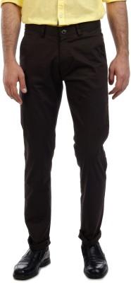 Sting Slim Fit Men's Brown Trousers