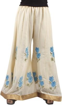 Taraz Regular Fit Women's Cream Trousers