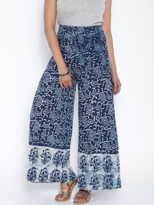 Rigoglioso Regular Fit Womens Blue, White Trousers