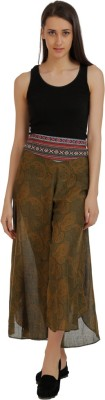 Holidae Regular Fit Women,s Green Trousers