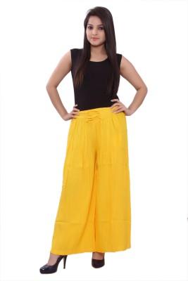 Razio Regular Fit Women's Yellow Trousers