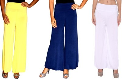 Zadine Regular Fit Women,s Yellow, Dark Blue, White Trousers