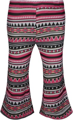 Jazzup Regular Fit Girl's Pink, Black Trousers