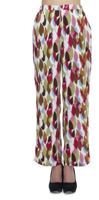 Zaivaa Regular Fit Women's Multicolor Trousers
