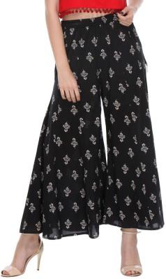 We Desi Regular Fit Women's Black Trousers