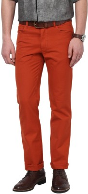 GIVO Slim Fit Men's Red Trousers
