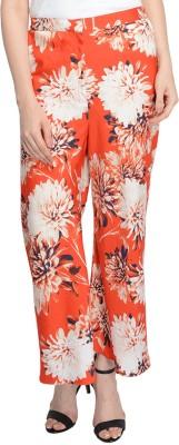 Bargain Basement Regular Fit Women's Red Trousers