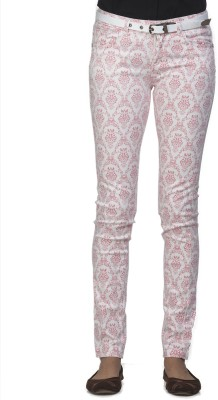 Ixia Slim Fit Women's Pink Trousers