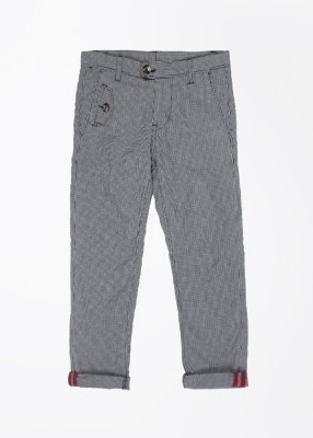 United Colors of Benetton Boy's White, Dark Blue Trousers
