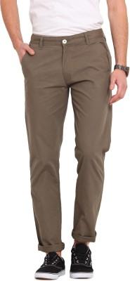 Ennoble Slim Fit Men's Green Trousers