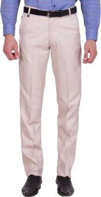 Tiger Grid Slim Fit Men's Beige Trousers