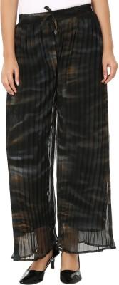 Shahfali Regular Fit Womens Black Trousers