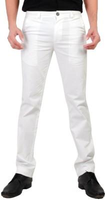Wood Slim Fit Men's White Trousers